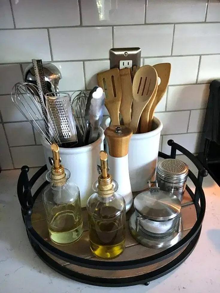 how to organize utensils