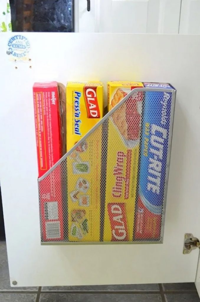 organize wax paper and more
