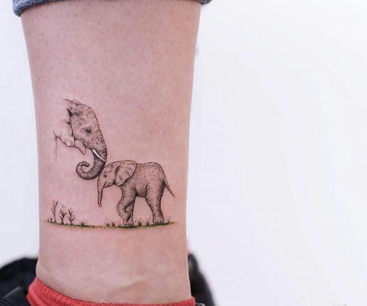 elephants tattoo