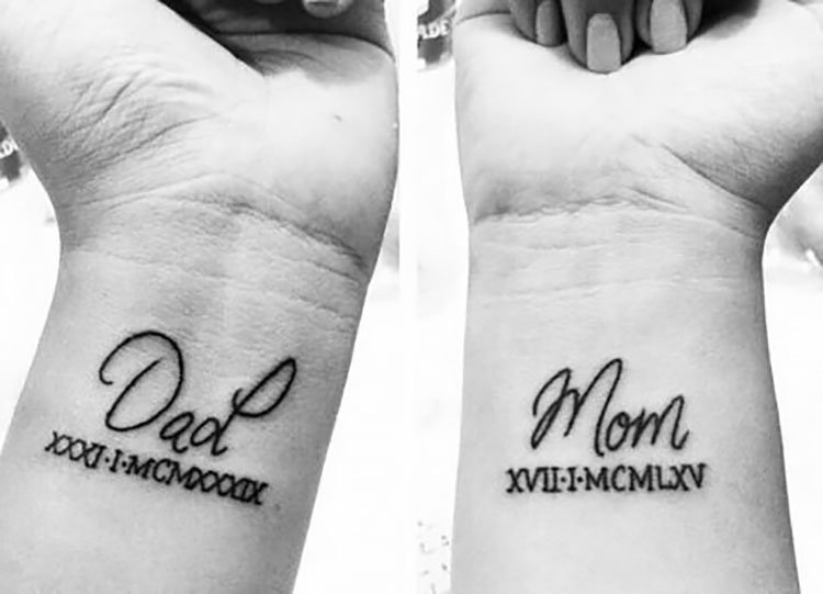 dad and mom tattoo