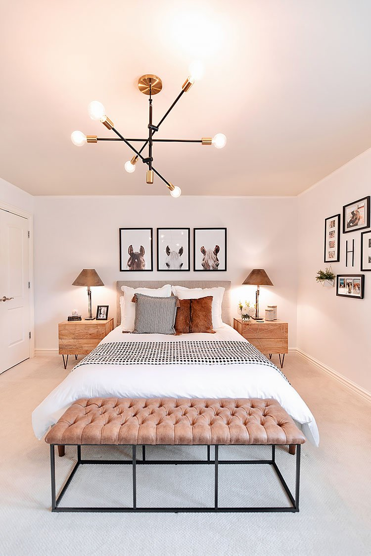 complete bedroom makeover with horse pictures