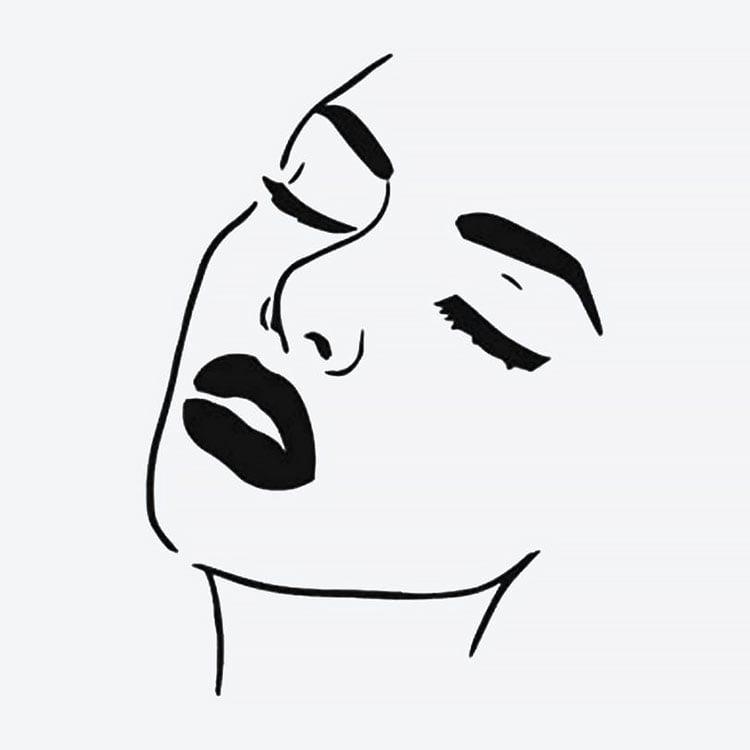 womans face