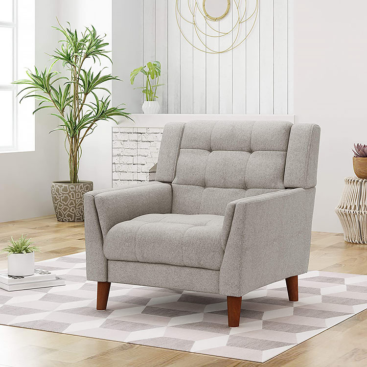 Evelyn Mid Century Modern Arm Chair