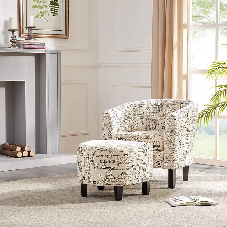 French Print Accent Chair