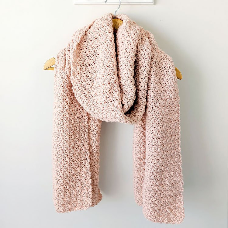 Shimmer Crochet Scarf