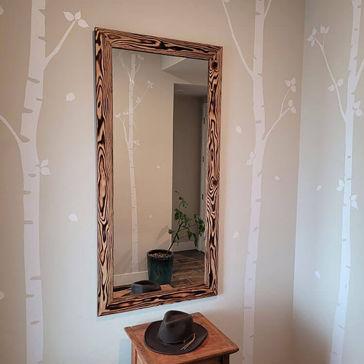 birch tree wall