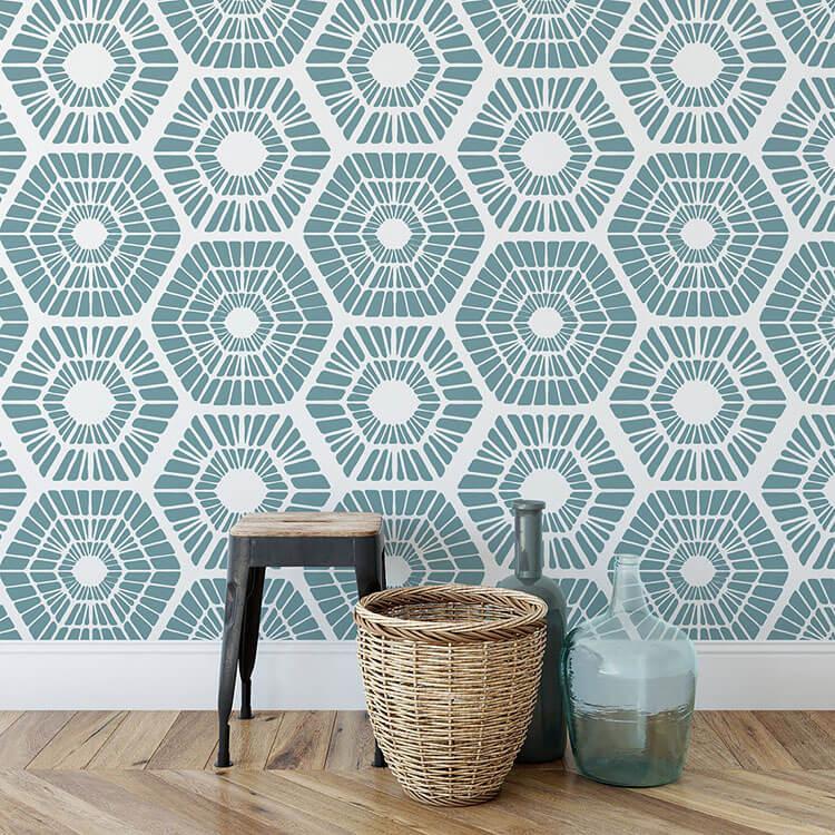 Scandinavian Geometric Pattern Wall