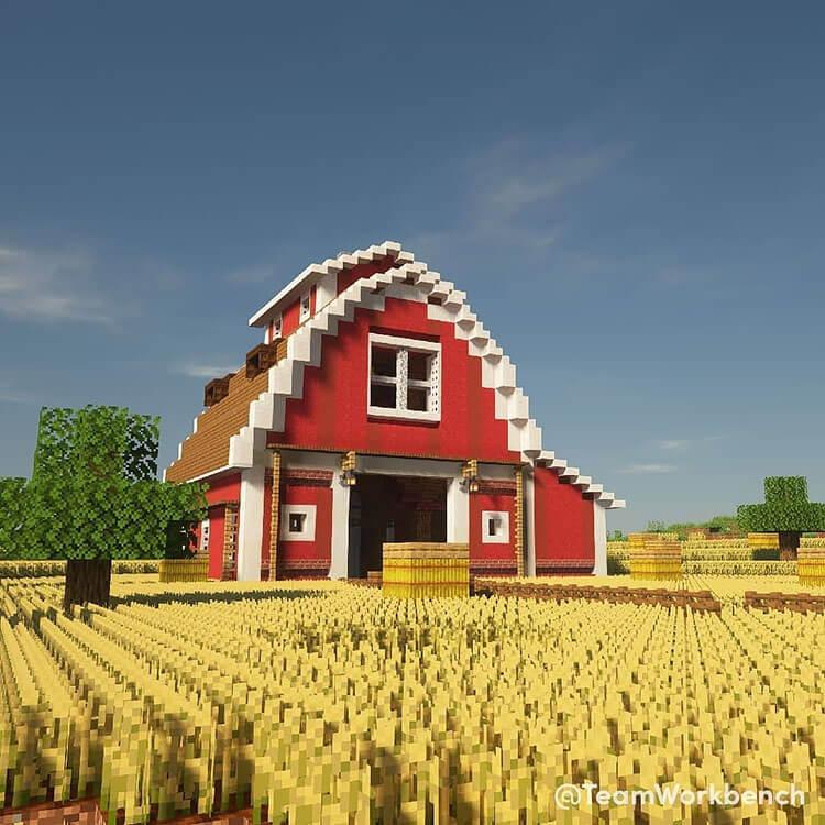 minecraft barn build