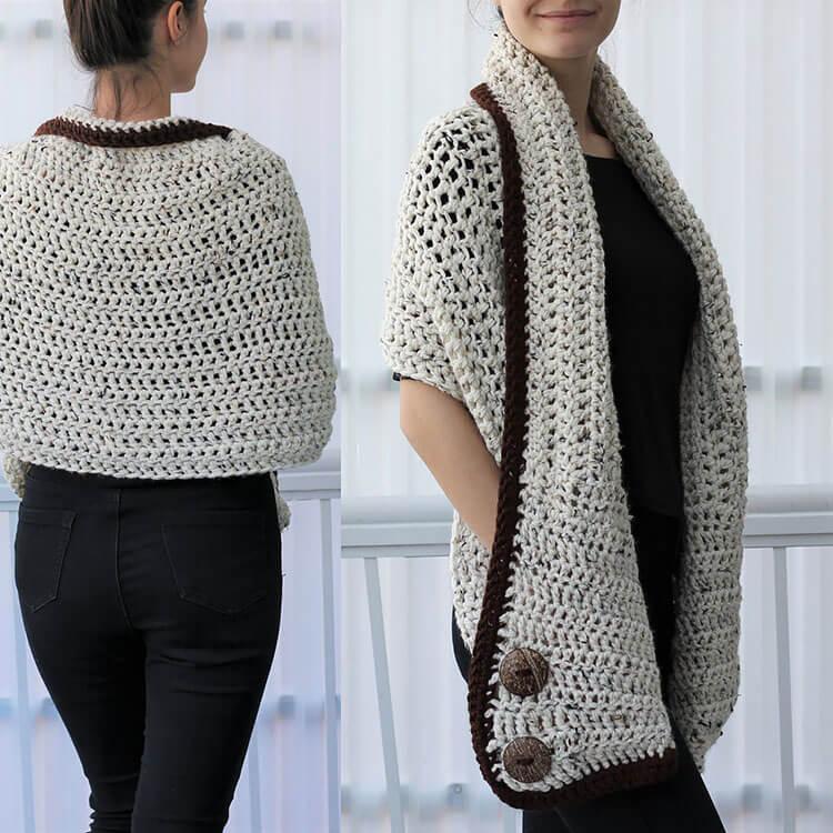 Darlee Crochet Wrap