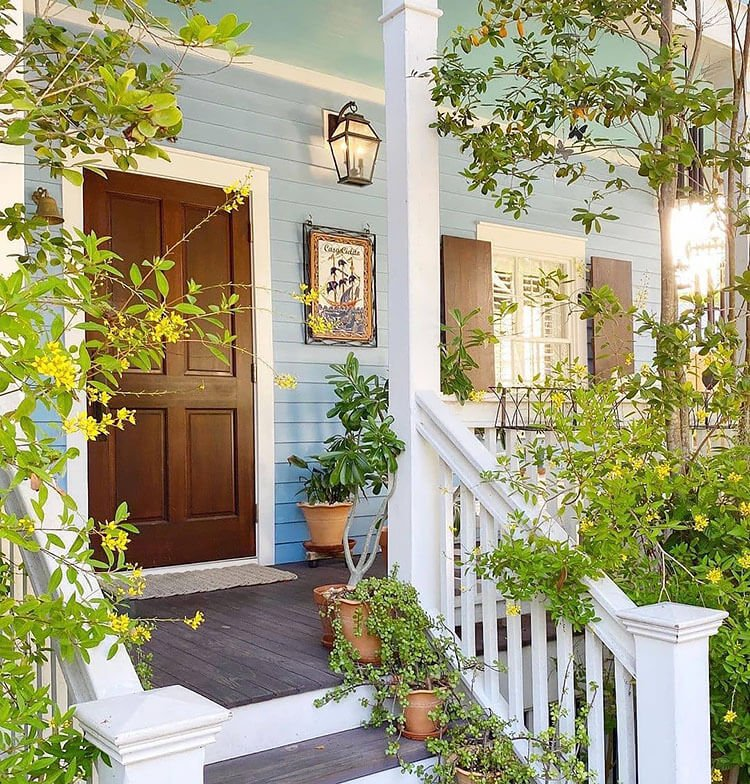 cover porch with plants