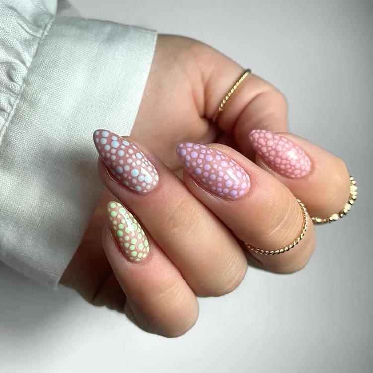 pastel specks nails