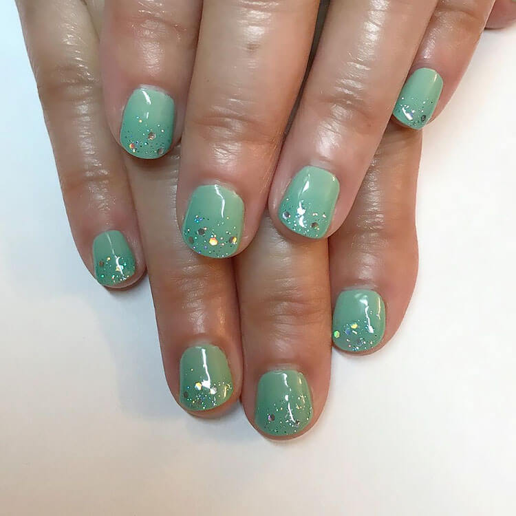 seafoam gel nails