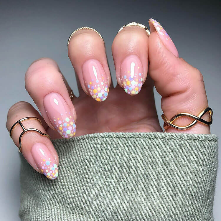 confetti on tip nails