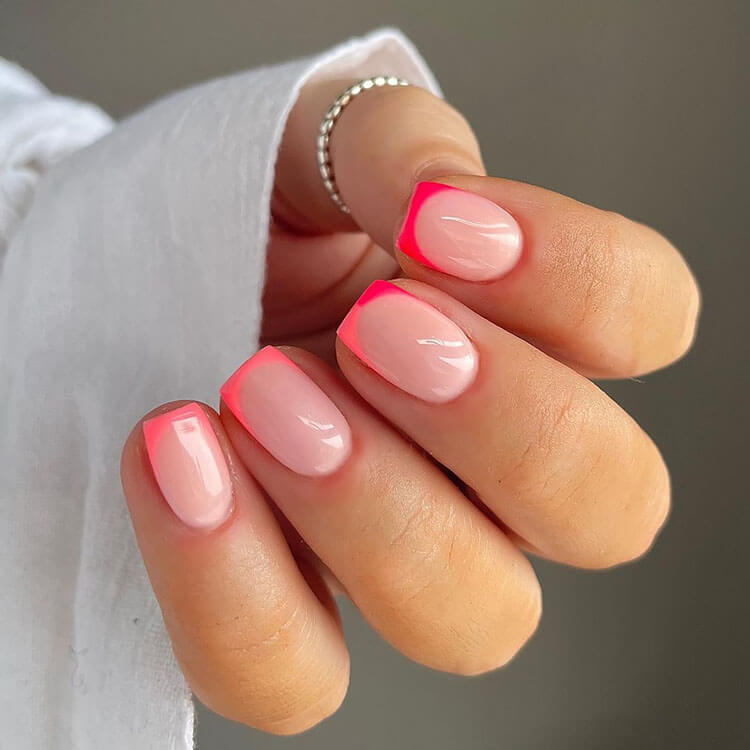 pink neon tips