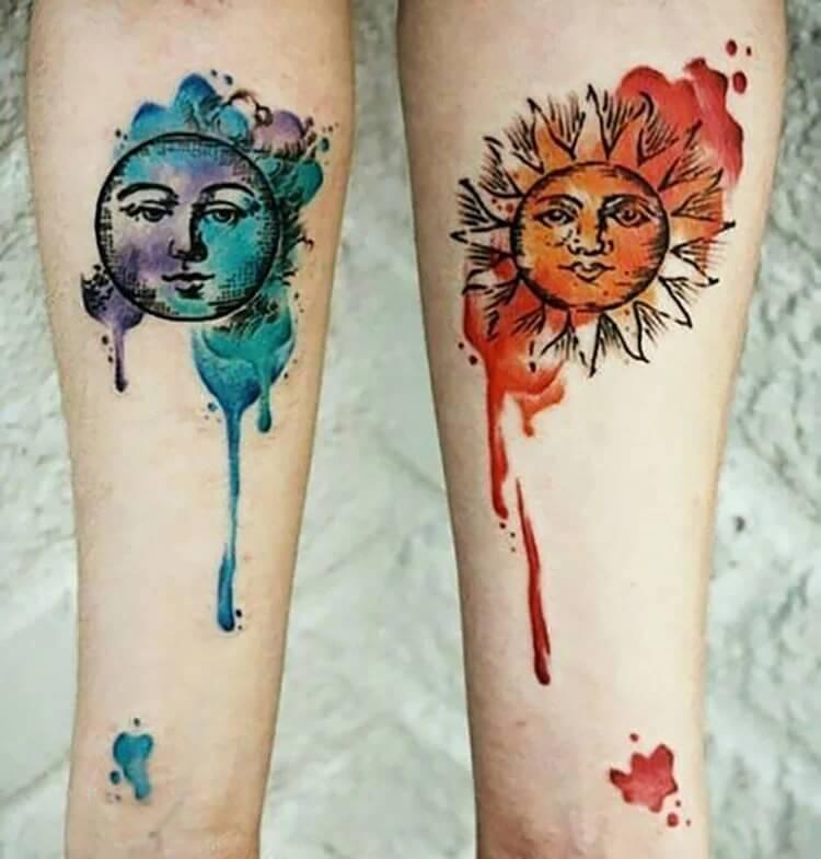 blue moon orange sun