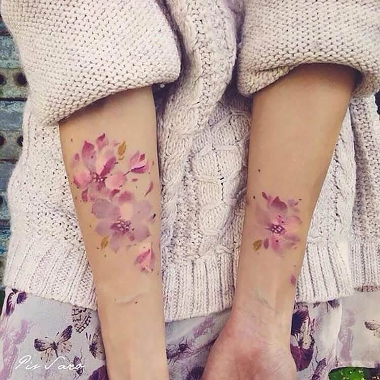 flower on both arms