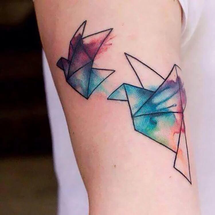 watercolor origami