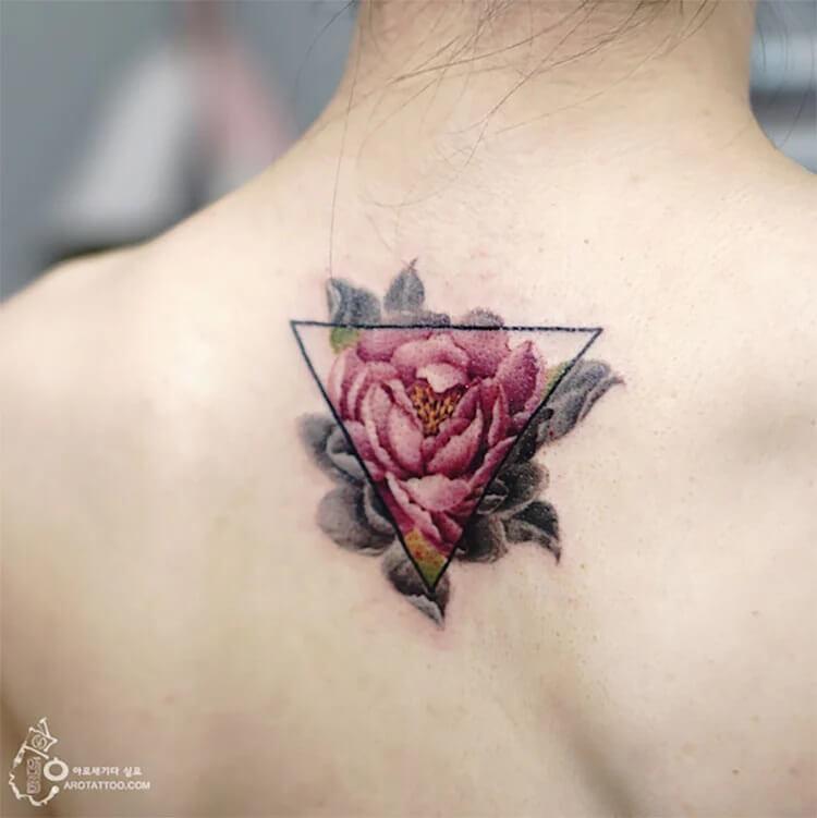 rose on back