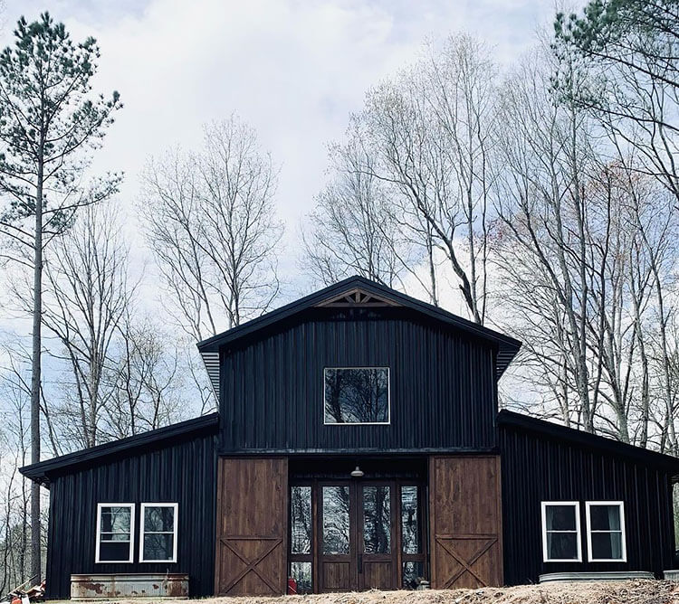 black and brown barn