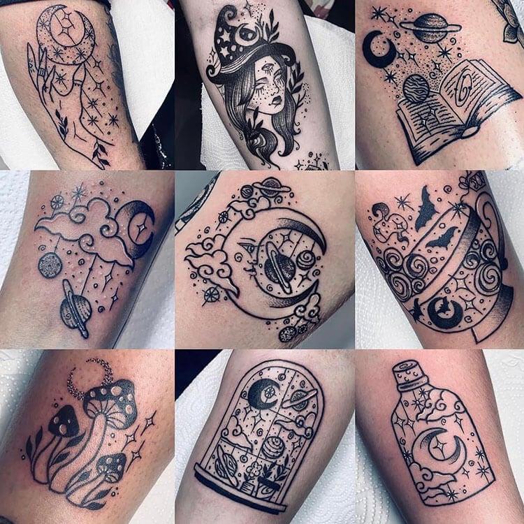 nine different tattoo ideas