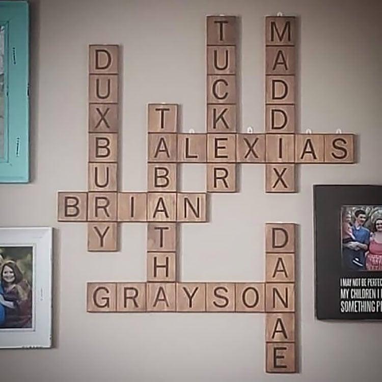 brown tiles on wall