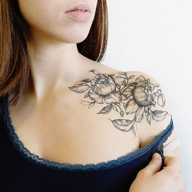 DELICATE FLOWERS TEMPORARY TATTOO