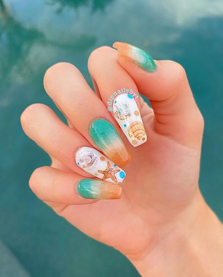 diy beach nails