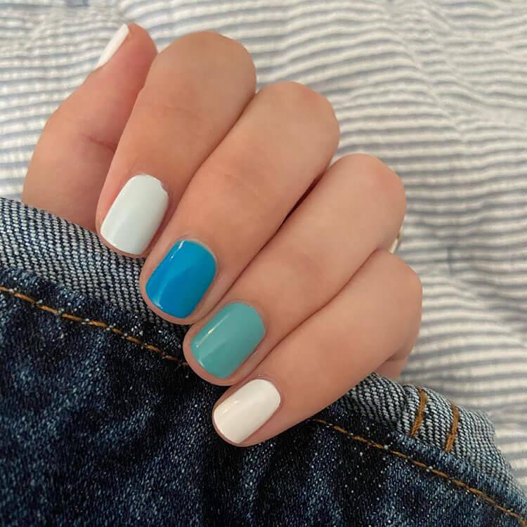 real nails polished