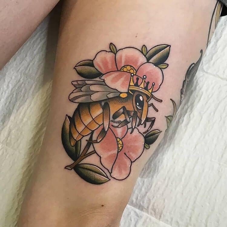 large bee tattoo