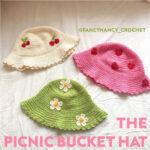 flower and cherry bucket hat