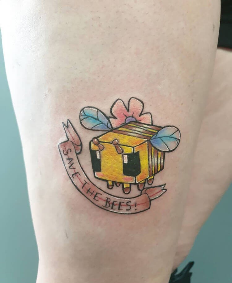 save the bees tattoo