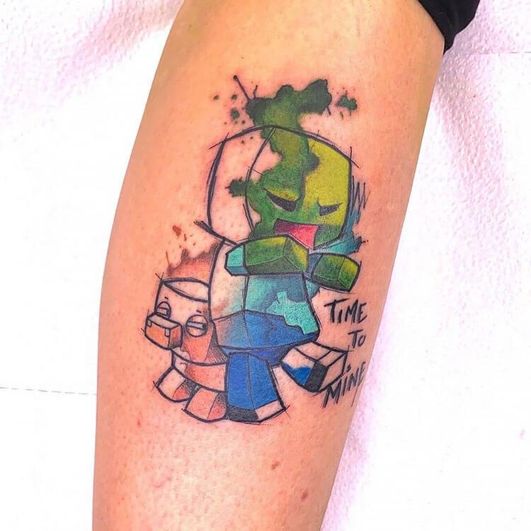 time to mine tattoo