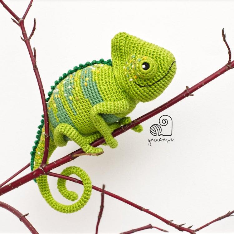 chameleon amigurumi