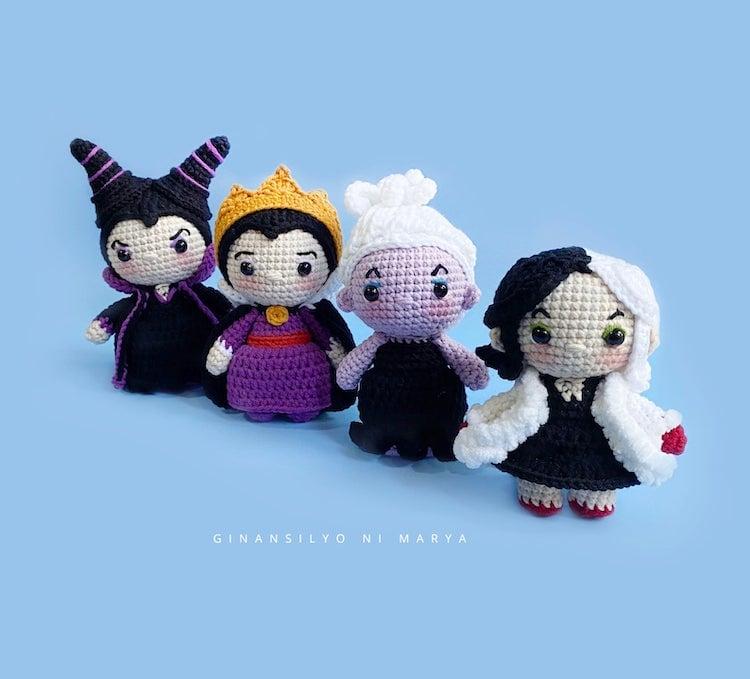 evil queens amigurumi