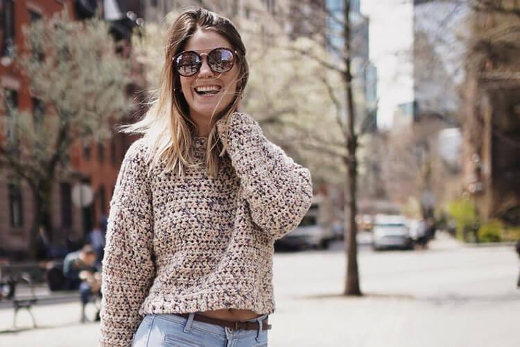 Boxy Cropped Sweater