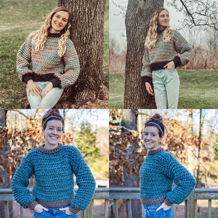 Simple Chunky Crochet Sweater