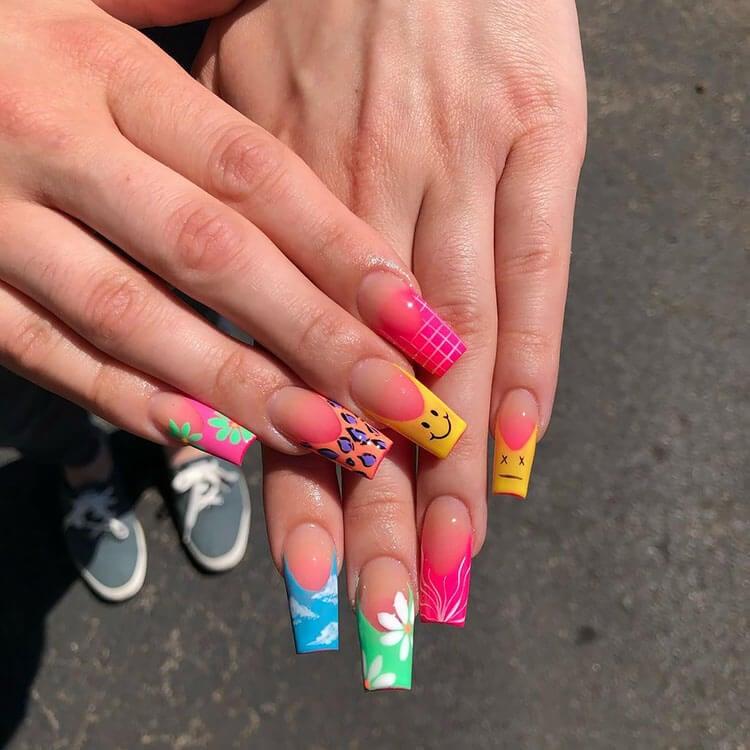 hippie coffin nails
