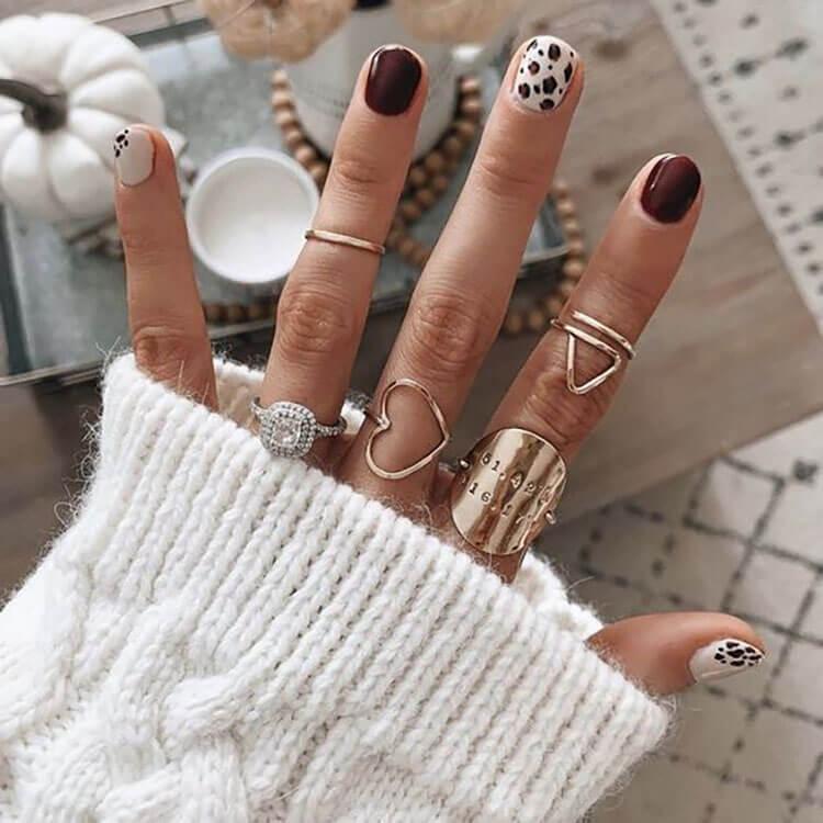 leopard fall nails