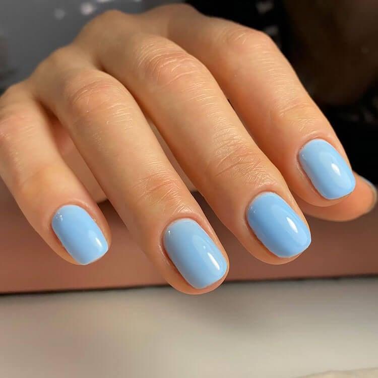 blue gel nails