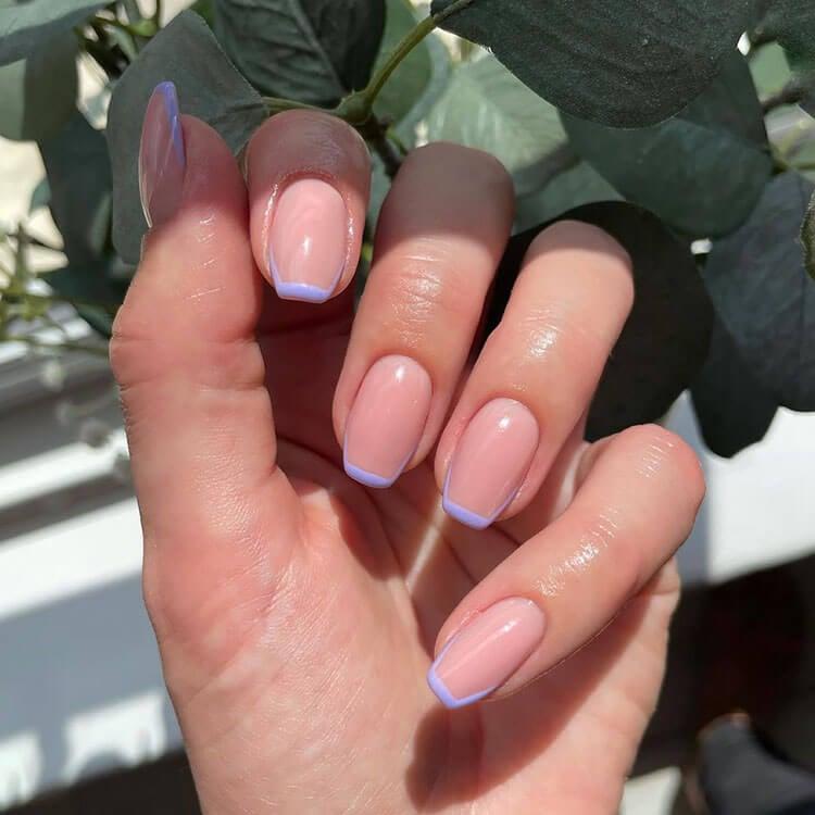 purple tip nails