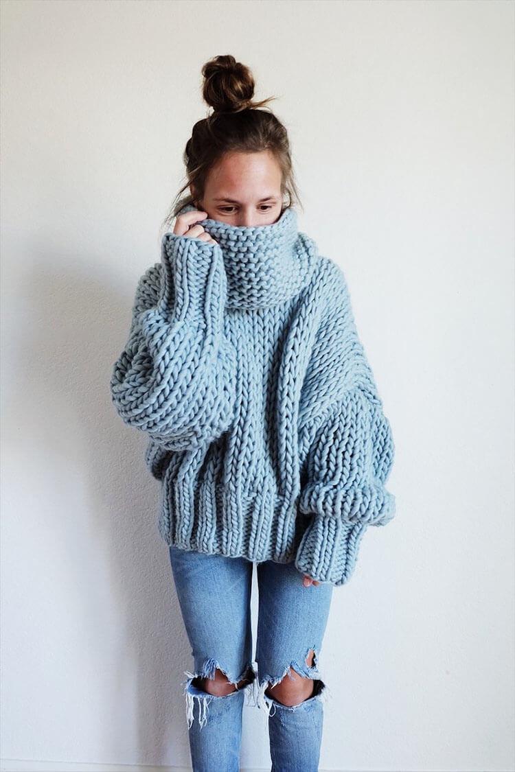 Winter Blues Sweater