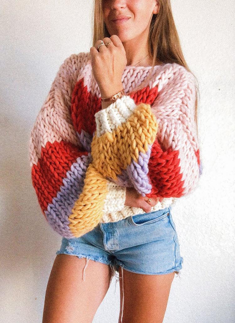 Striped Winter Sweater