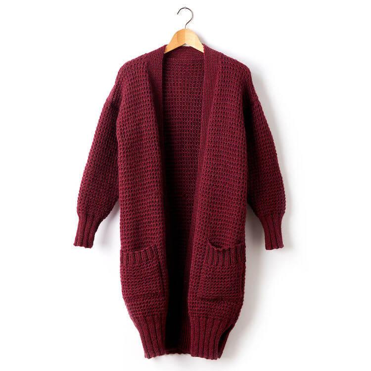 free knit cardigan pattern