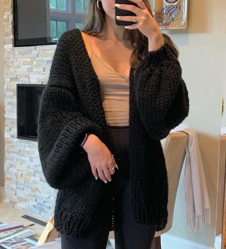 Sydria Slouchy Knit Cardigan