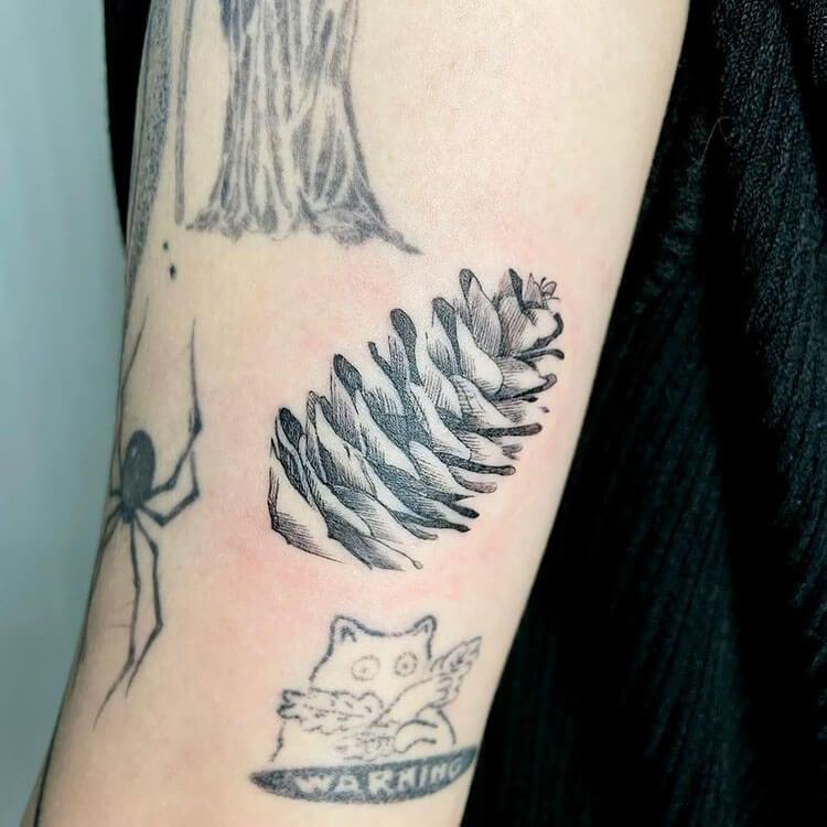 pinecone tattoo sleeve