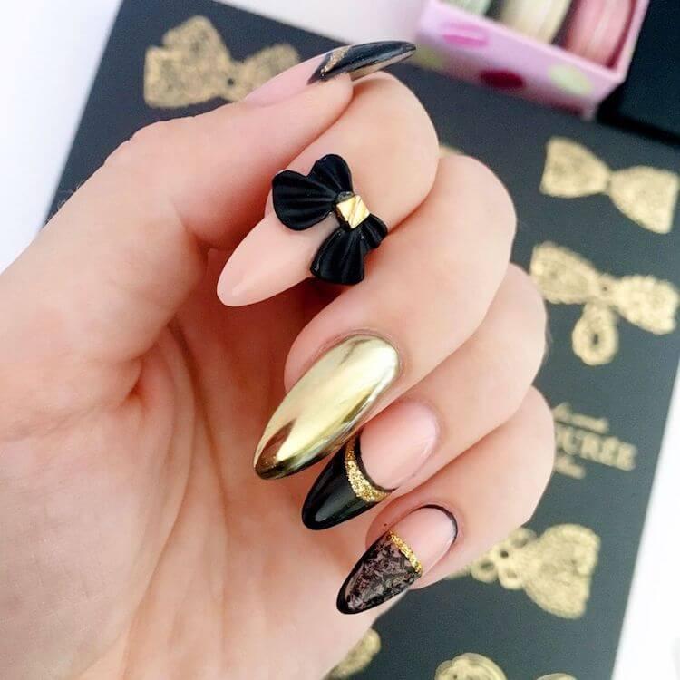 nails with bow