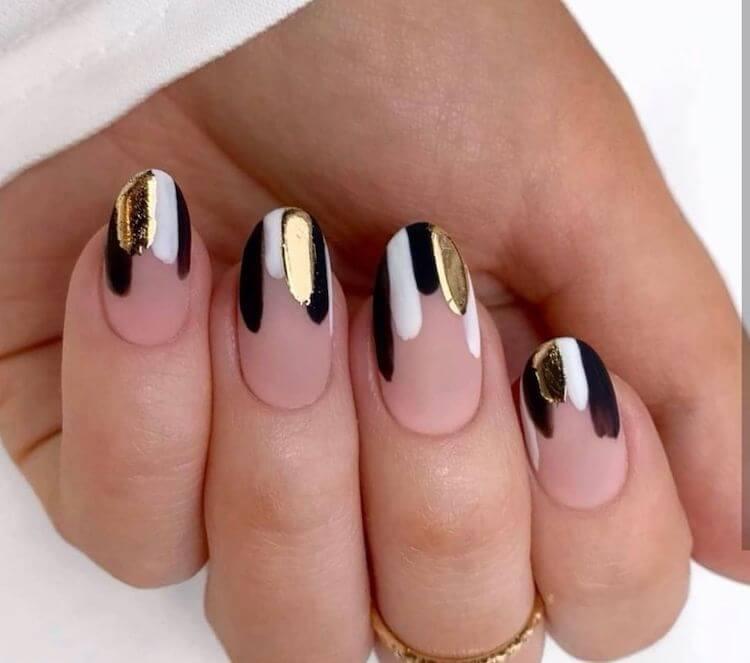 shimmer nail design