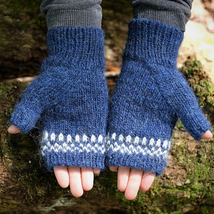 Simple Fingerless Mittens with Arch Gusset