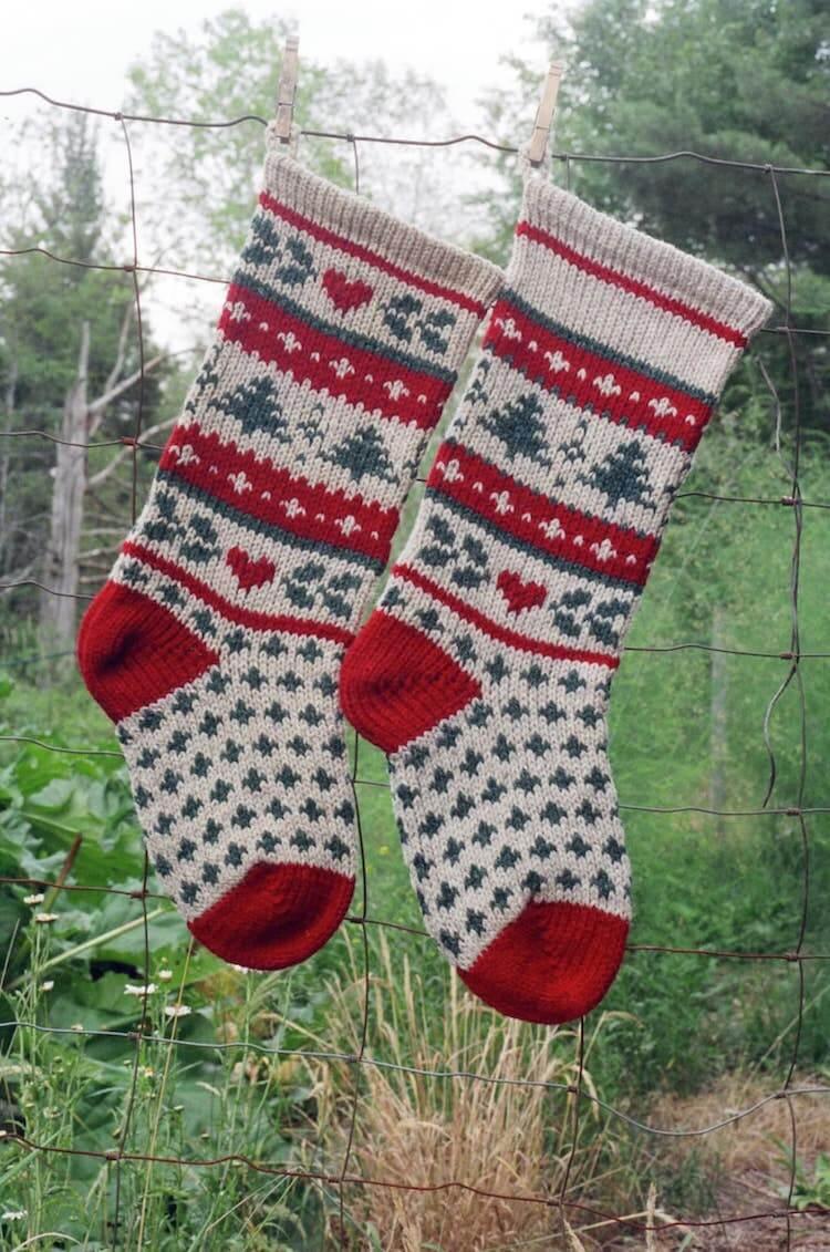 Evergreen Christmas Stockings