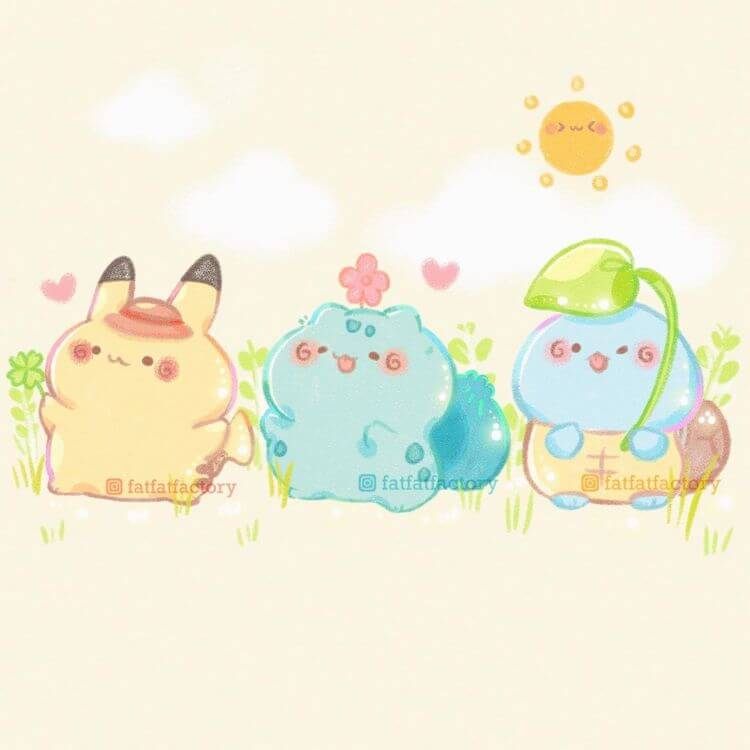 pokemon and friends